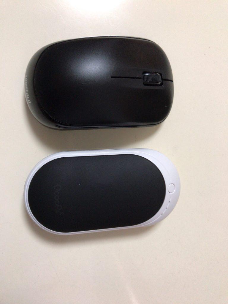 充電式カイロ マウスとの比較