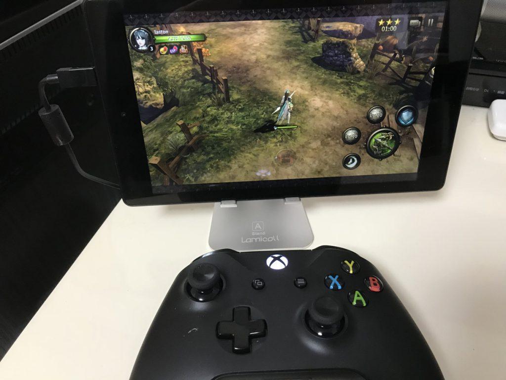 xbox oneコントローラでhitをプレイ
