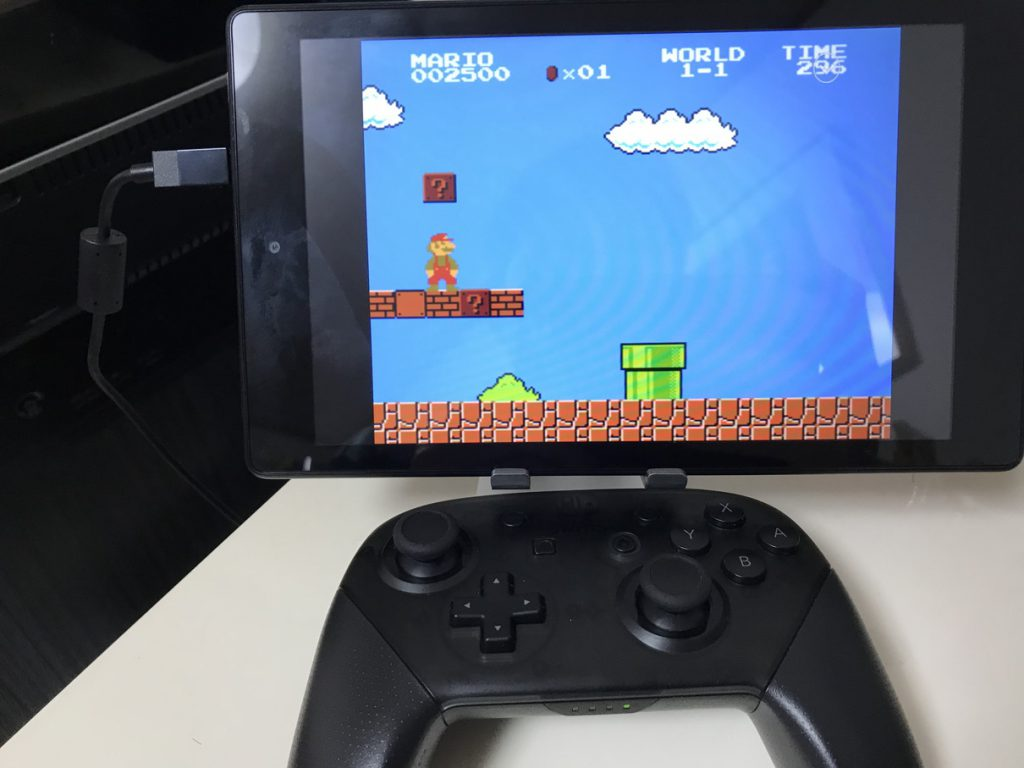 Switch ProコントローラとRetroArch