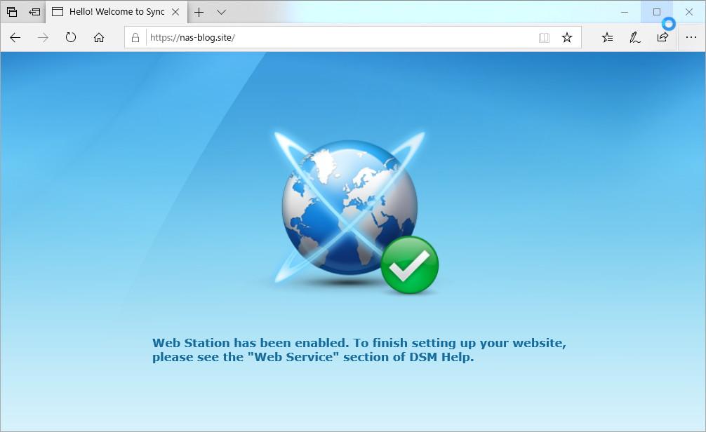 hosts設定後のローカル内からのアクセス